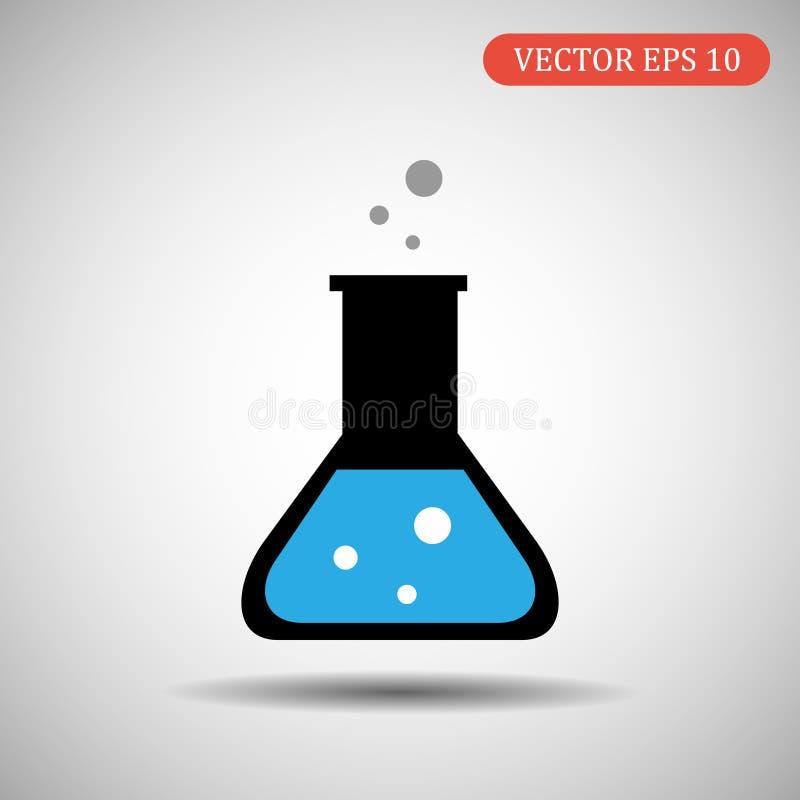 Покрашенный значок склянки также вектор иллюстрации притяжки corel стоковая фотография