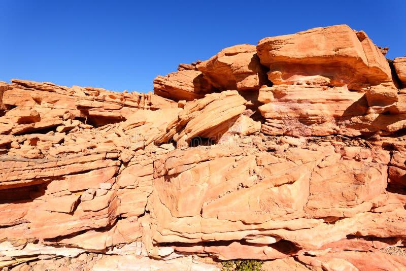 Покрашенный каньон в пустыне Синая, Египет стоковое фото