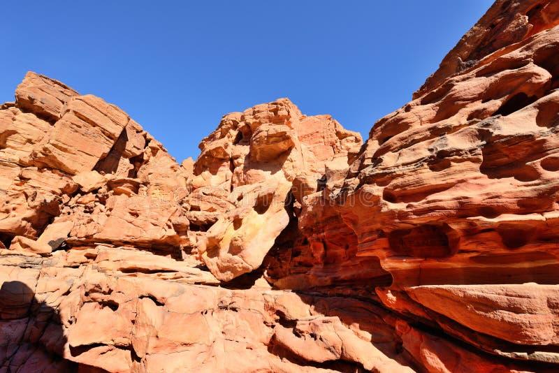 Покрашенный каньон в пустыне Синая, Египет стоковое изображение