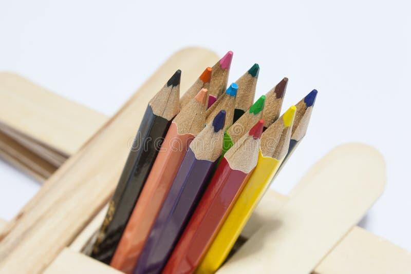 Покрашенный карандаш стоковые изображения rf