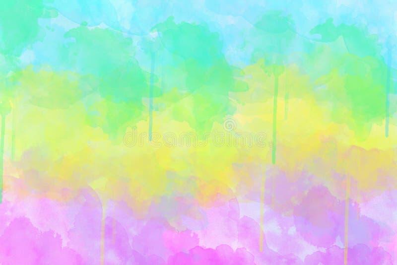 покрашенный конспектом multi watercolour пятна стоковая фотография rf