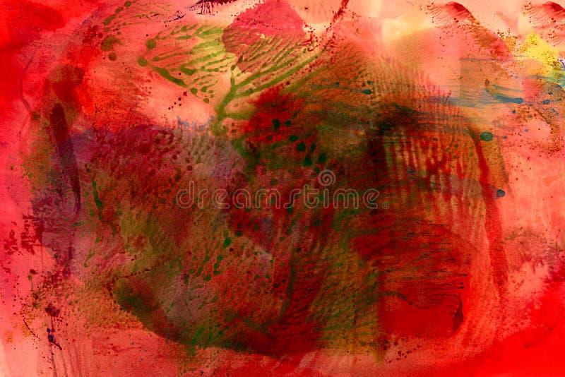 Покрашенный конспект красным с зелеными метками иллюстрация штока