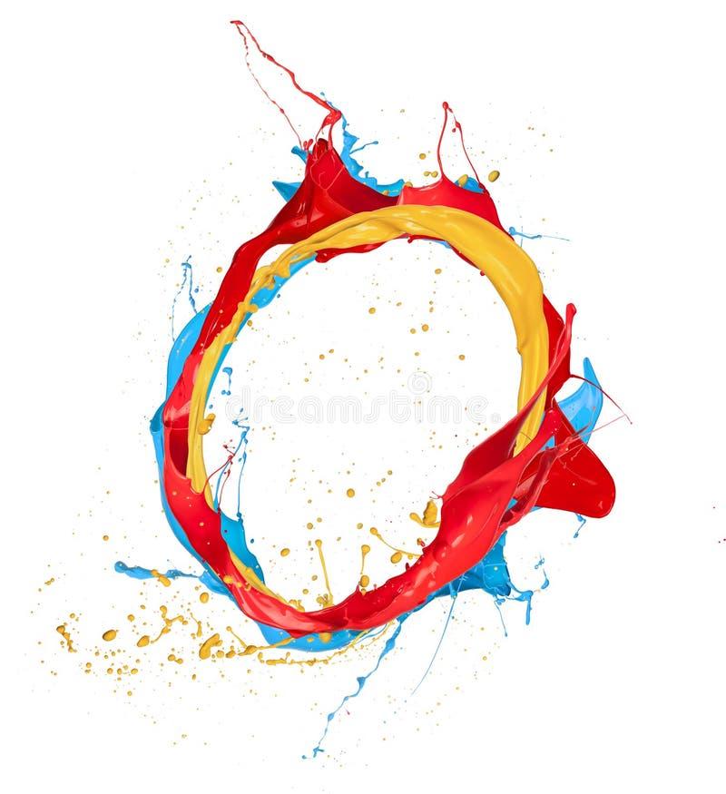 Покрашенный круг стоковые изображения rf