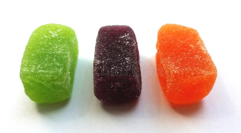 Покрашенный мармелад в сахаре стоковое фото rf