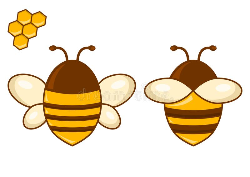 Покрашенный набор пчелы также вектор иллюстрации притяжки corel иллюстрация вектора
