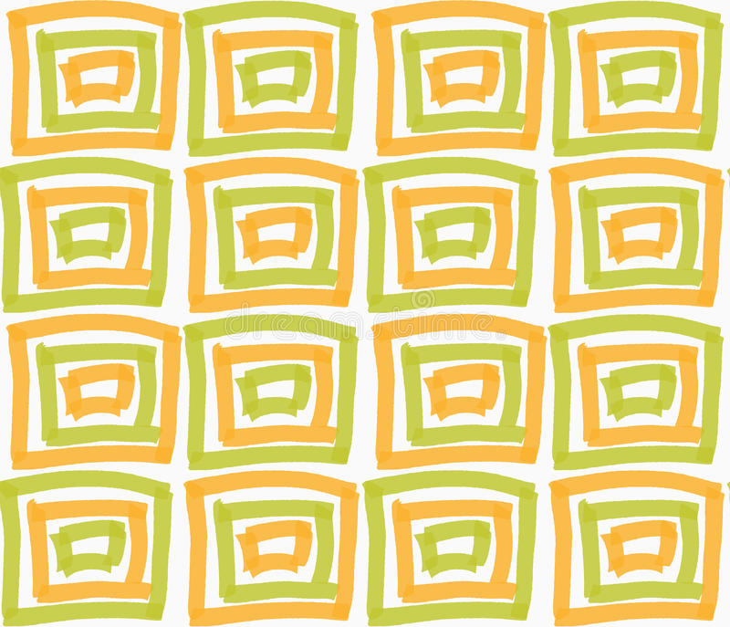 Покрашенный оранжевые и зеленые квадраты отметки бесплатная иллюстрация