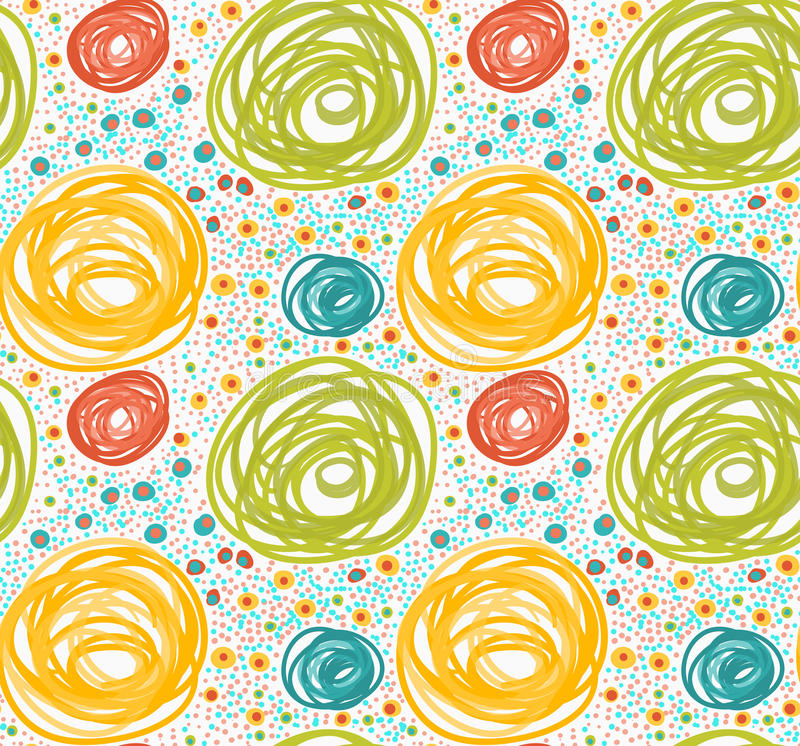 Покрашенный оранжевые и зеленые круги с точками бесплатная иллюстрация