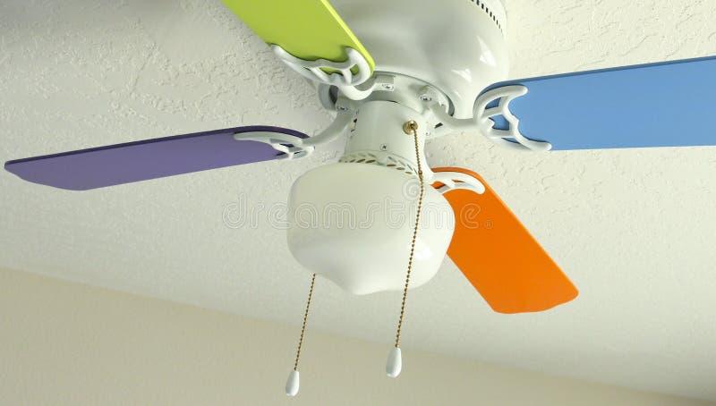 Покрашенный потолочный вентилятор стоковое фото