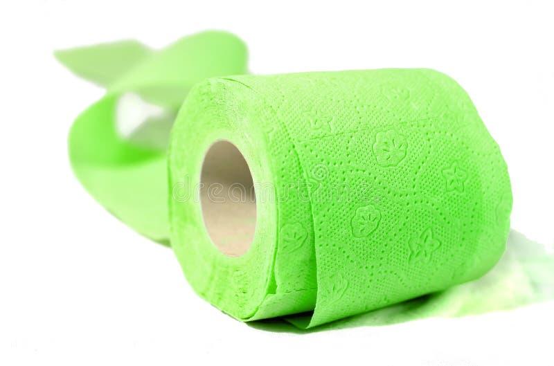 покрашенный туалет весны зеленой бумаги стоковое фото rf