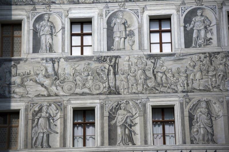 Покрашенный фасад стоковые фотографии rf