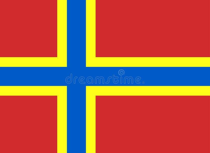 Покрашенный флаг островов оркнейских остров бесплатная иллюстрация