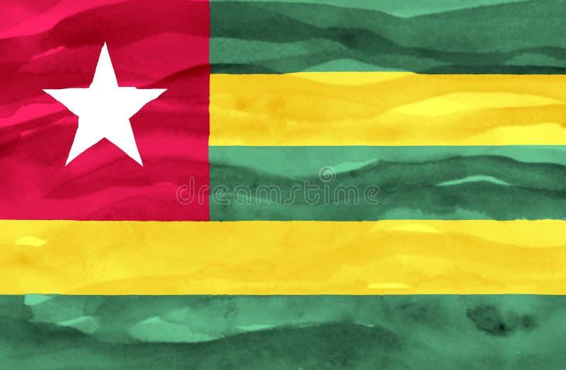 Покрашенный флаг Того стоковые изображения rf