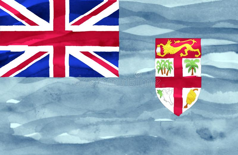 Покрашенный флаг Фиджи стоковые изображения rf