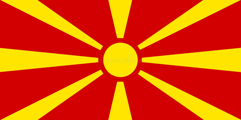 Покрашенный флаг македонии иллюстрация штока