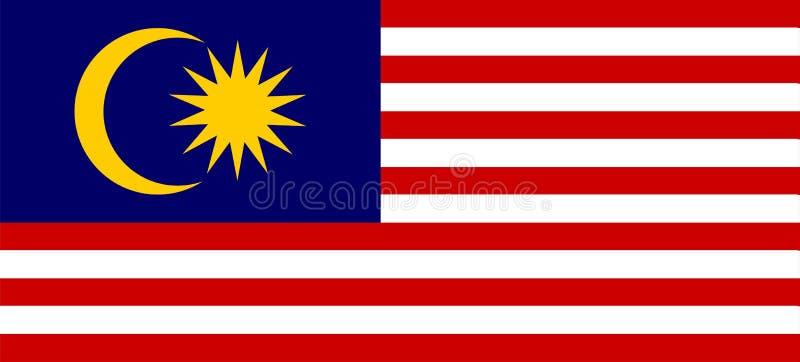 Покрашенный флаг Малайзии иллюстрация вектора