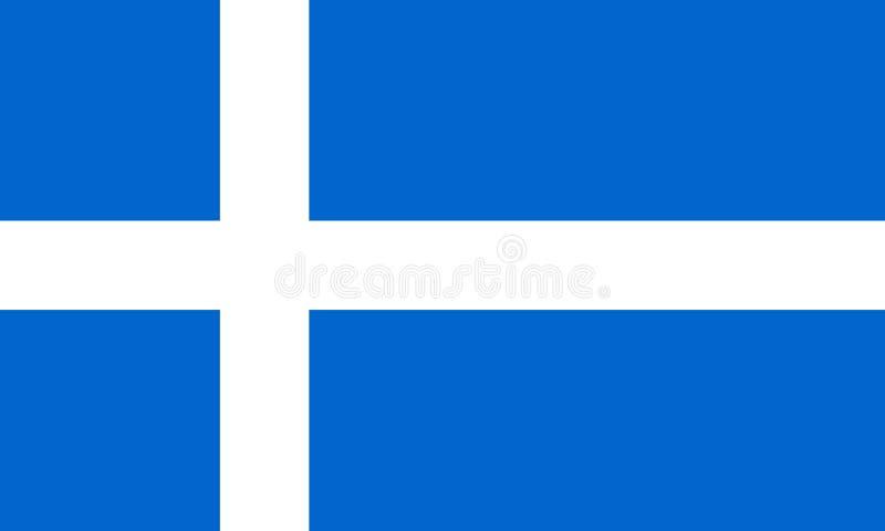 Покрашенный флаг островов Shetland иллюстрация вектора