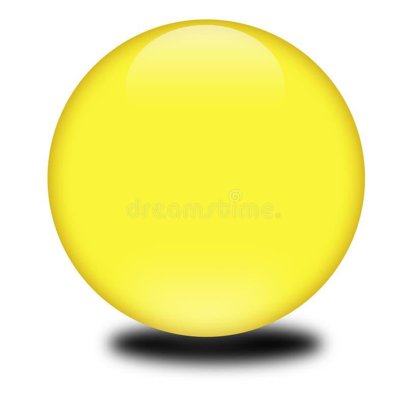 покрашенный 3d желтый цвет сферы иллюстрация вектора