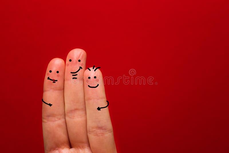 Покрашенный smiley пальца, счастливая тема праздника - изображение стоковые фотографии rf
