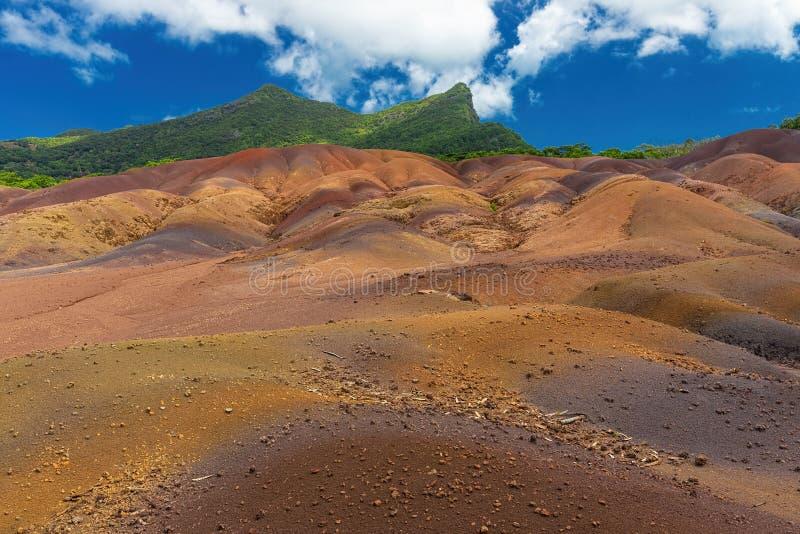 7 покрашенных земель около Chamarel на острове Маврикия стоковая фотография