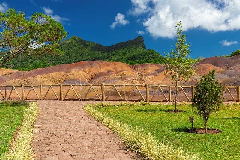 7 покрашенных земель около Chamarel на острове Маврикия стоковое фото rf