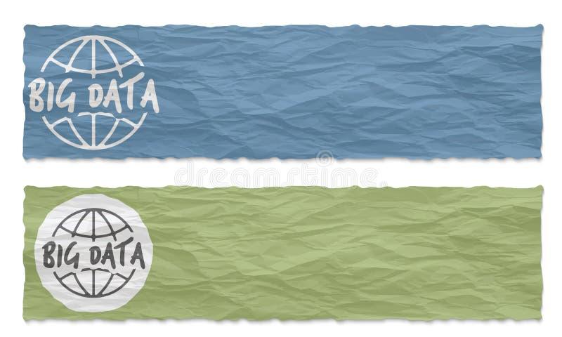 2 покрашенных знамени иллюстрация штока