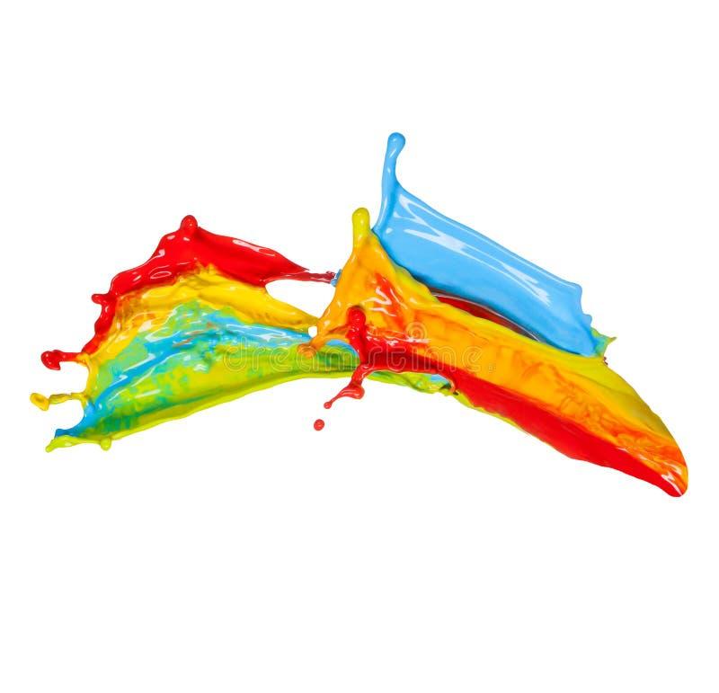 Покрашено брызгает в абстрактной форме стоковое изображение rf