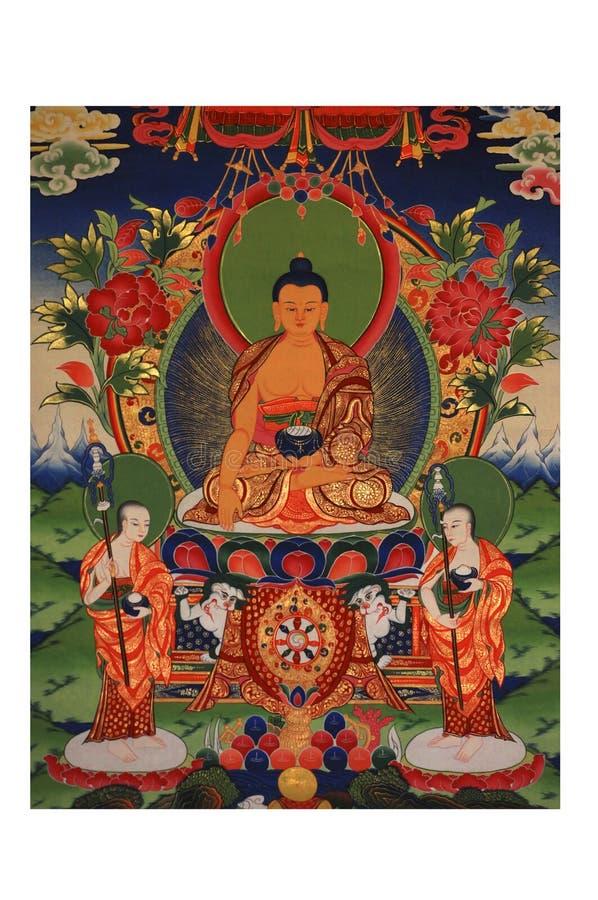 покрынная картина лорда золота Будды стоковые изображения rf