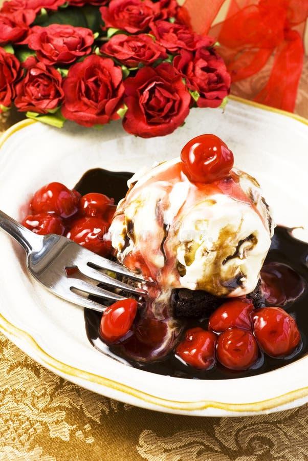покрынный льдед пирожня cream стоковая фотография