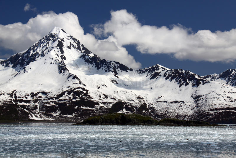 покрынный снежок национального парка гор kenai фьордов стоковая фотография rf
