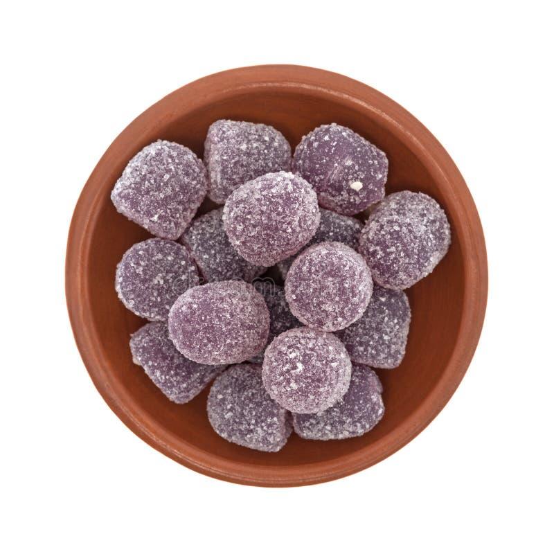 Покрытая сахаром конфета кислого падения виноградины камедеобразная стоковое изображение