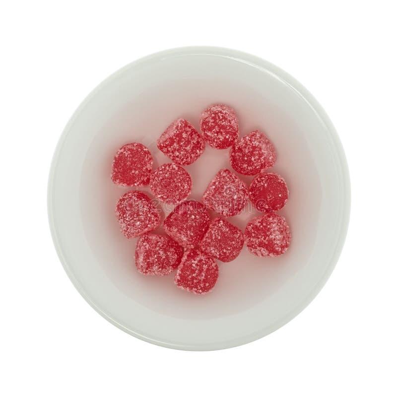 Покрытая сахаром конфета кислого падения камедеобразная стоковая фотография