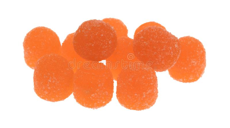 Покрытая сахаром конфета оранжевого кислого падения камедеобразная стоковое фото rf