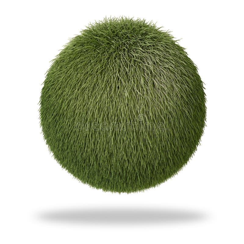 покрытая сфера травы иллюстрация штока