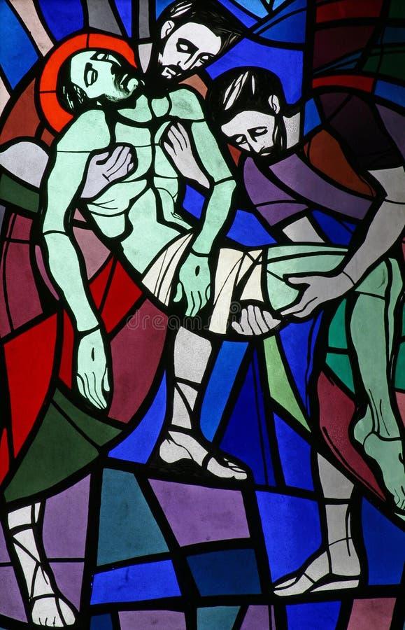 покрытая усыпальница ладана положенная jesus стоковые изображения rf