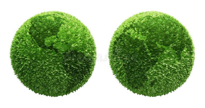 покрытые листья глобуса земли бесплатная иллюстрация
