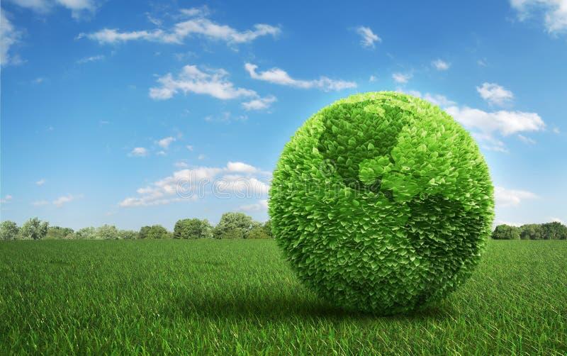 покрытые листья травы поля земли иллюстрация вектора