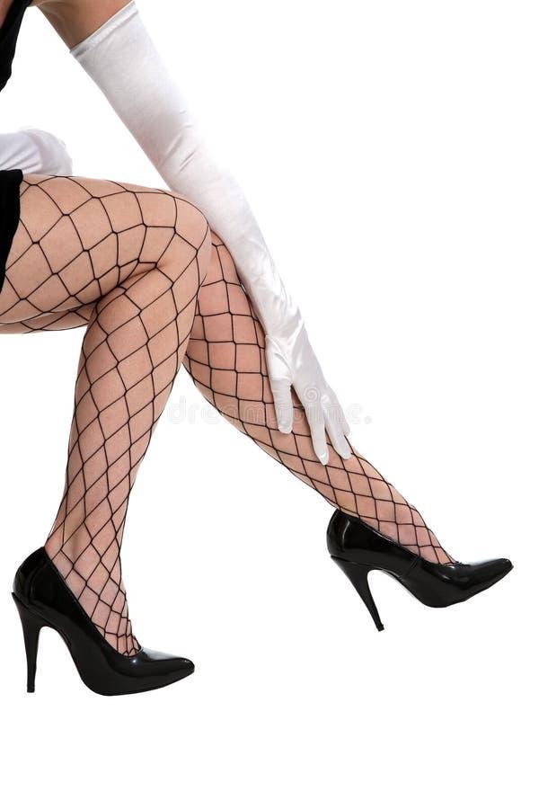 покрытые ноги fishnet стоковое изображение rf
