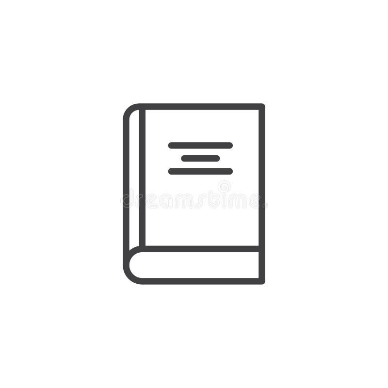 Покрытый значок плана книги иллюстрация штока