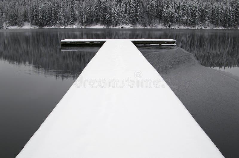 покрытый Снег док стоковые изображения rf