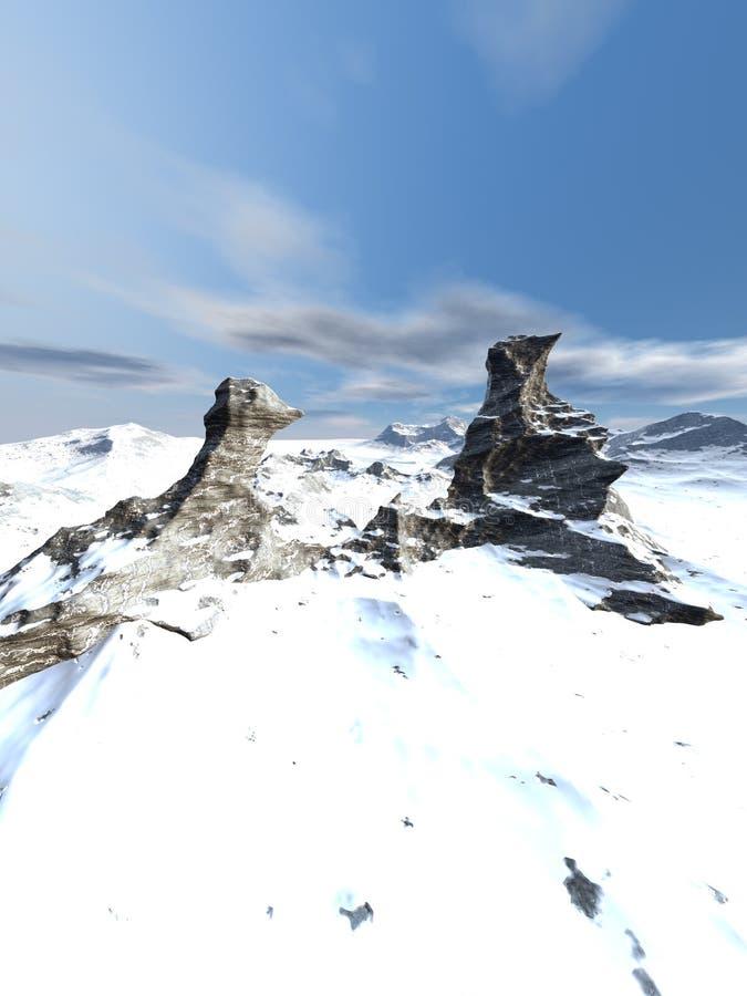 покрытый снежок гор стоковая фотография rf