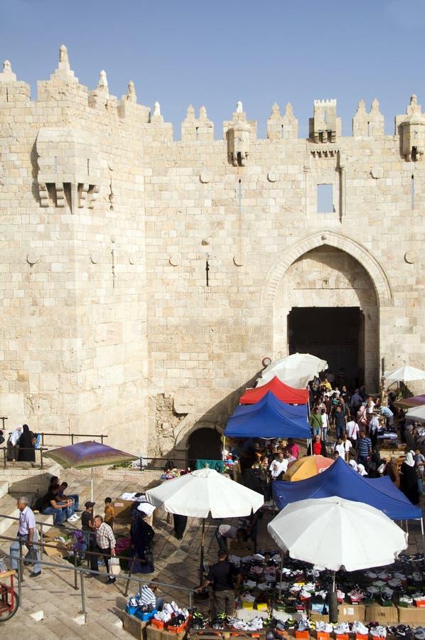 покупатели Палестины строба damascus стоковые фото