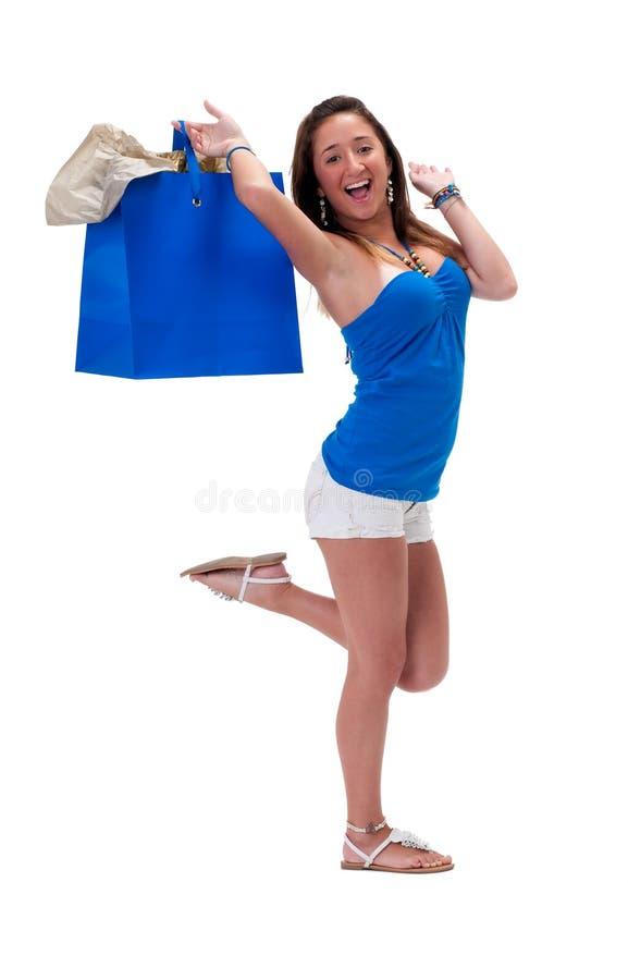 покупатель счастливый стоковое фото rf