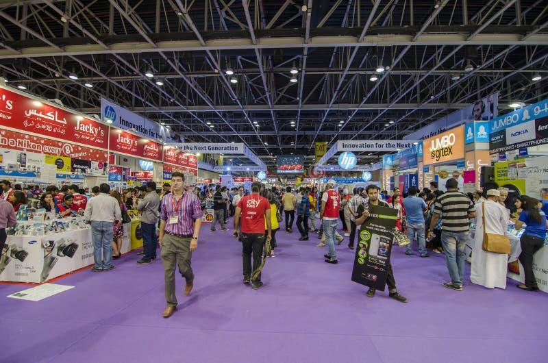 Покупатель Gitex в Дубай стоковые фотографии rf