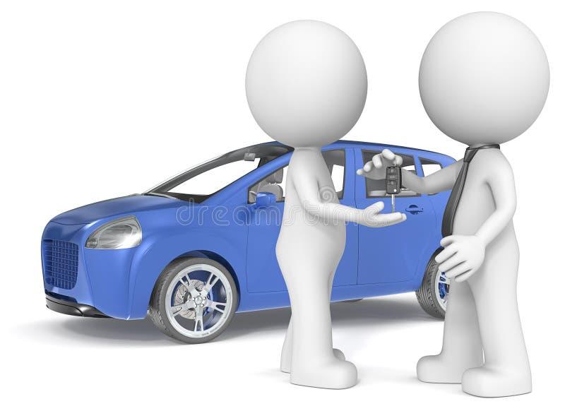 Покупать автомобиль. иллюстрация вектора