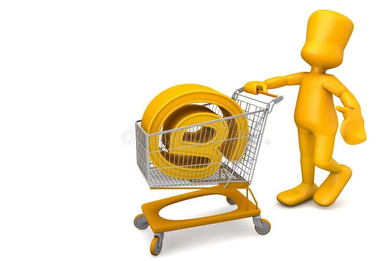 покупая домен иллюстрация вектора
