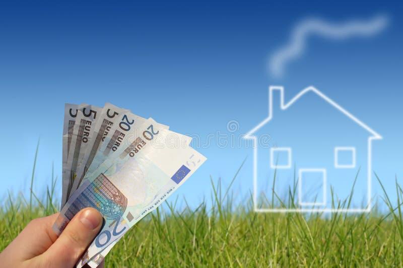 покупая дом принципиальной схемы стоковое фото rf