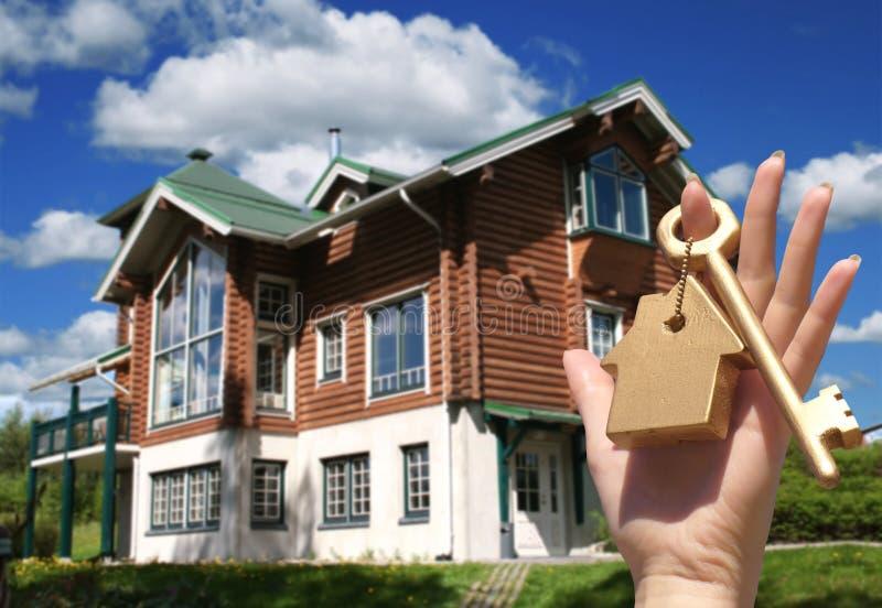 покупая дом принципиальной схемы стоковые изображения
