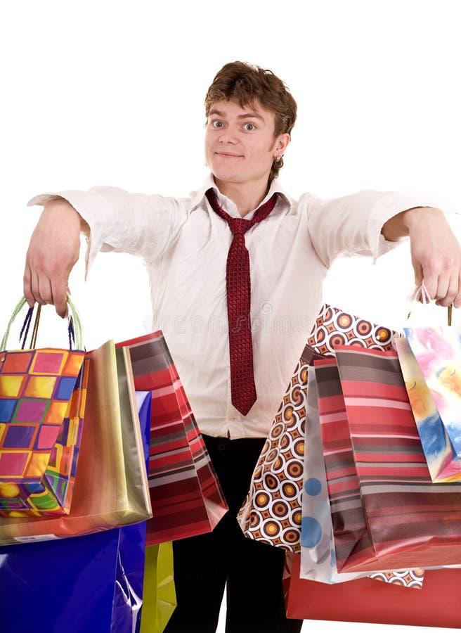 покупка группы бизнесмена мешка стоковые фотографии rf