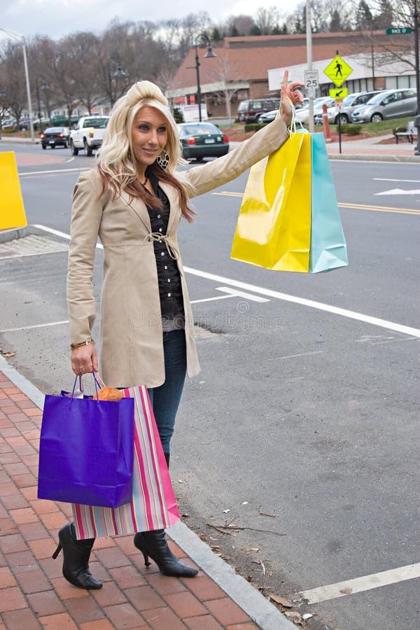 покупка девушки милая стоковые фотографии rf
