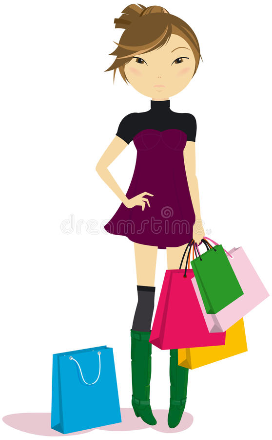 покупка девушки иллюстрация штока